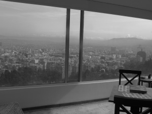 The view overlooking Bogota