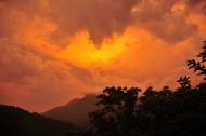 Sunset on day one of the trek in La Sierra Nevada de Santa Marta