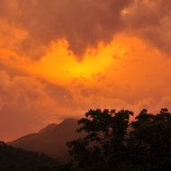 Sunset on day one of the trek in La Sierra Nevada de Santa Marta