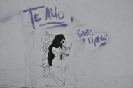 Stencil work, downtown Mexico City