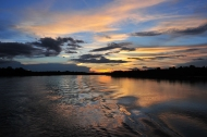 An impressive display of colours along the Amazon River