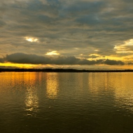 Sunrise on the Amazon River, somwhere between Tabatinga and Manaus