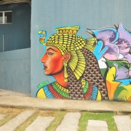Favela street art, Complexo do Alemao, Rio