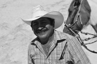 A proper Mexican smile, accompanied by a brilliant traditional hat