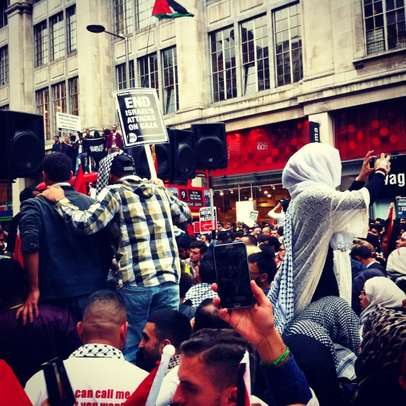 A London protest against Israeli aggression.