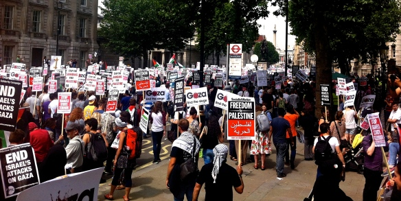 #J19 London protest against Israeli aggression in Gaza