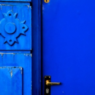 Stunning blue door