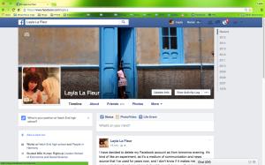 My Facebook profile page